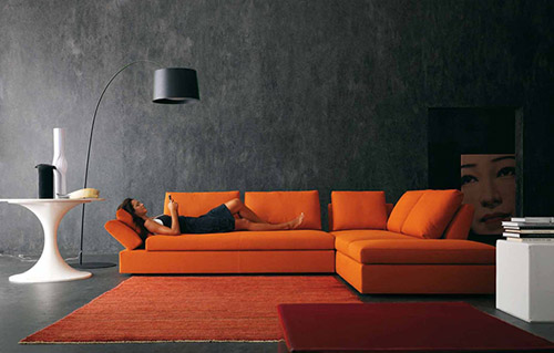 Magnificent Orange and Grey Modern Living Room 500 x 319 · 41 kB · jpeg