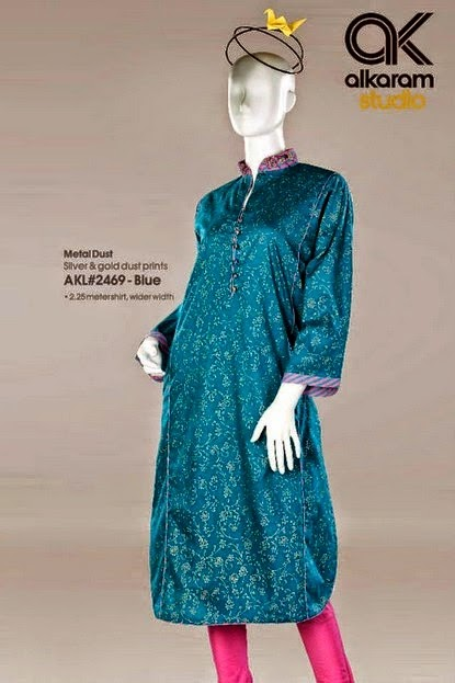 Alkaram Digital Printed Lawn Long Frocks