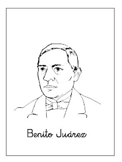 Benito Júarez - Dibujos para Colorear