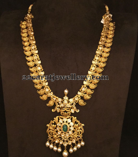 Traditional Mango Set With Uncuts Jewellery Designs