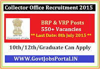 COLLECTOR OFFICE RECRUITMENT 2015