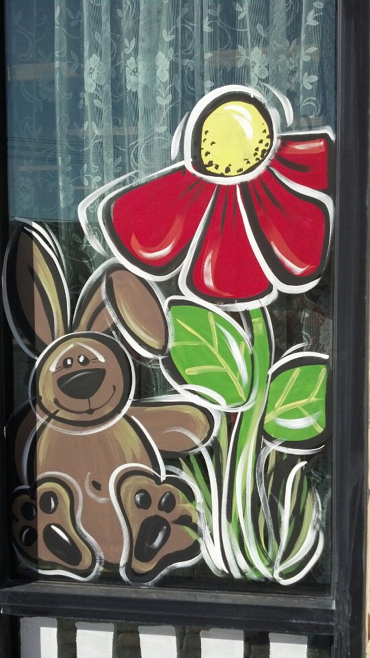 Last Friday I Painted The Windows For Treasures From Heart Here In Las Vegas She Wanted Something To Leave Up Past Easter So Think This Did Job