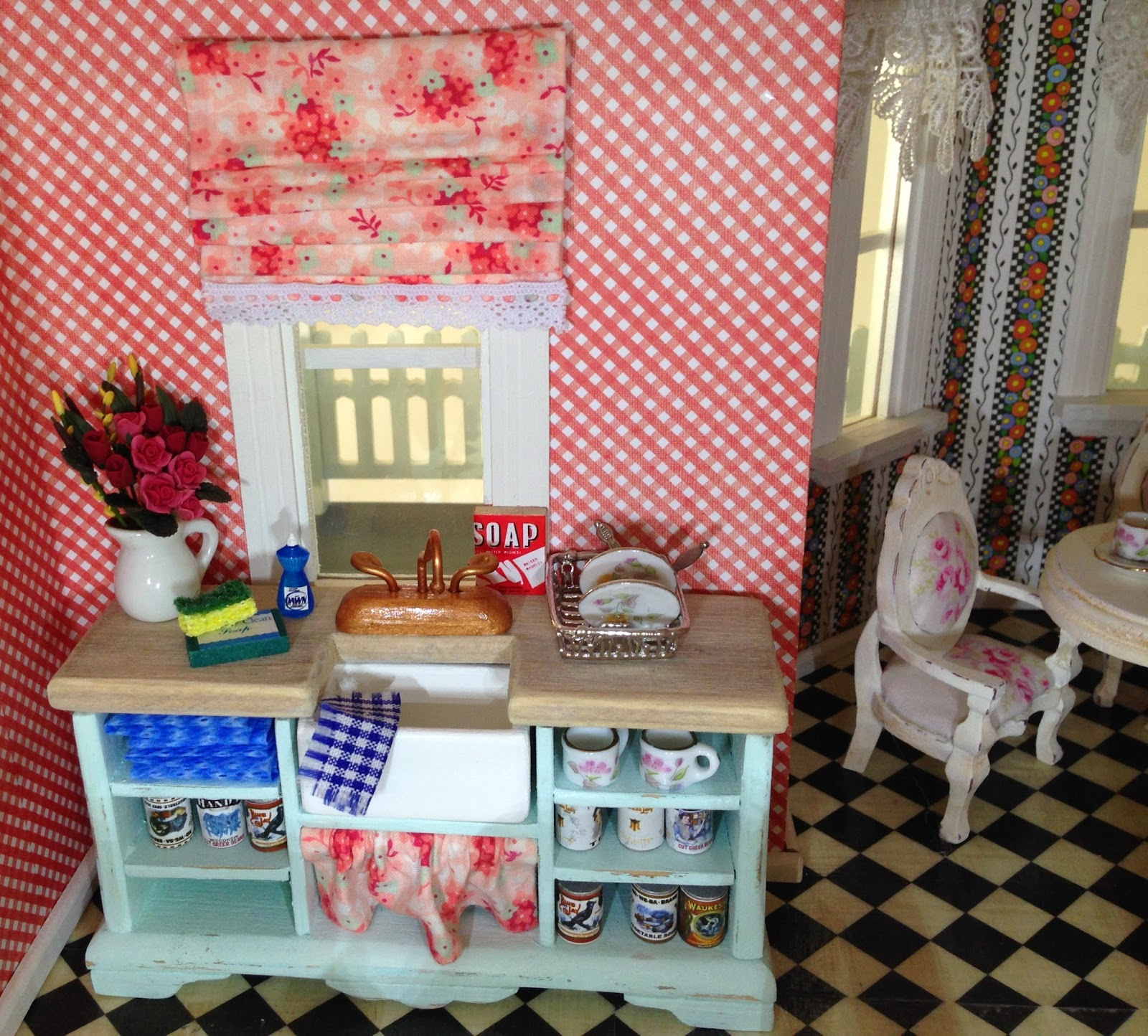 I Also Refinished A Pie Safe Cabinet From Hobby Lobby To Match The Table.  The High Chair Came With A Baby Furniture Set.