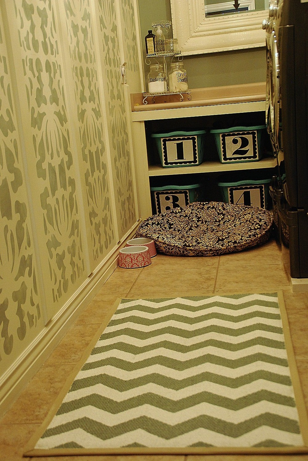 Laundry Room Decor Rugs Photograph | Painted Chevron Rug Rev
