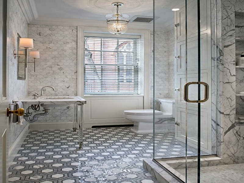 Marvelous bathroom floor tile for cool house yonehome for Cool floor tile designs