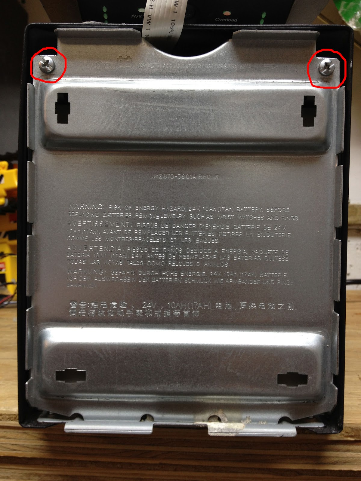 How To Replace The Battery In An Apc Smart Ups 1500 Share Your Repair Wiring Diagram Free Picture Pull Top Of Plate Out Bottom It Sits Into Two Notches You Will Be Able Lift Up And Once Have Leaned A