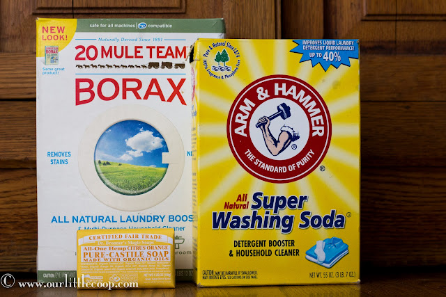borax, soup, pure, castile, washing soda, natural detergent, recipe