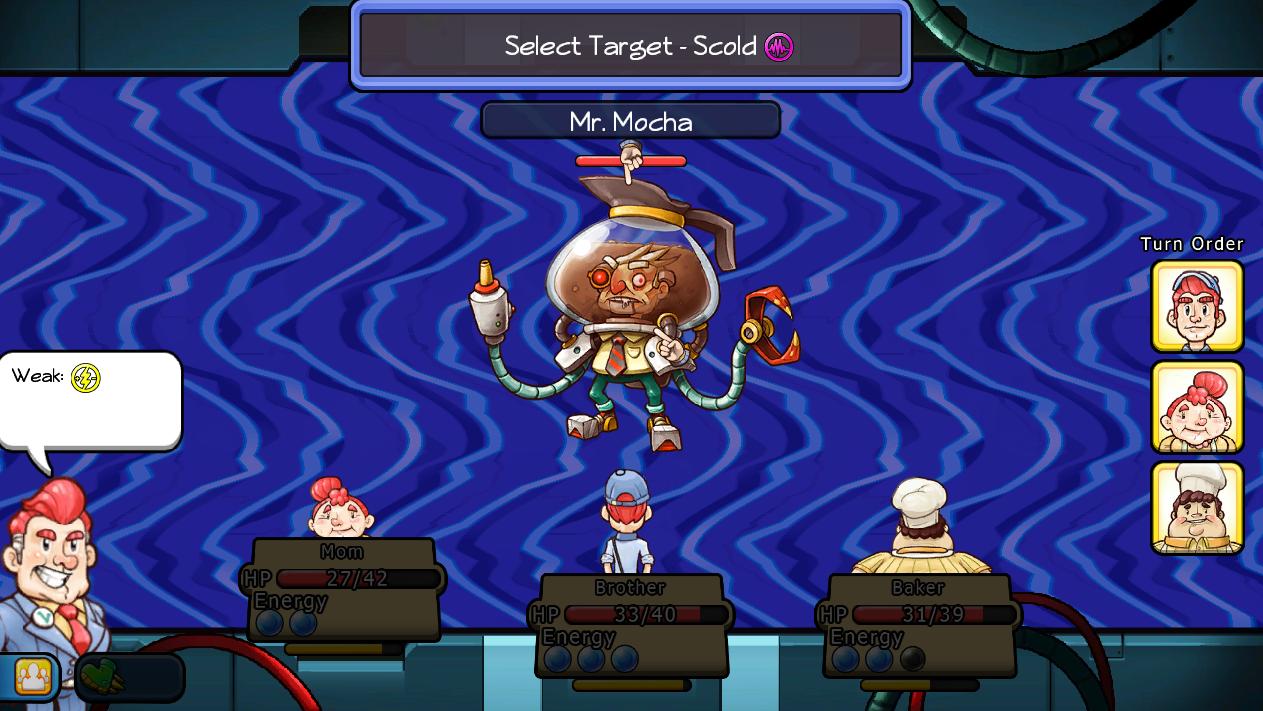 The VP battles Mr. Mocha, overlord of Moonbucks. Hrm.