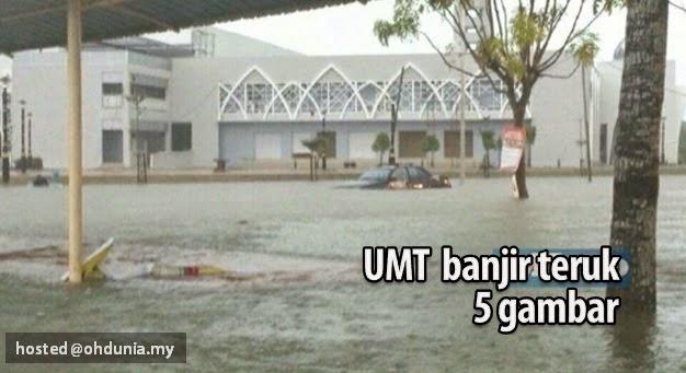 Terkini: UMT Dilanda Banjir Teruk dan Diisytihar Darurat - 5 Gambar