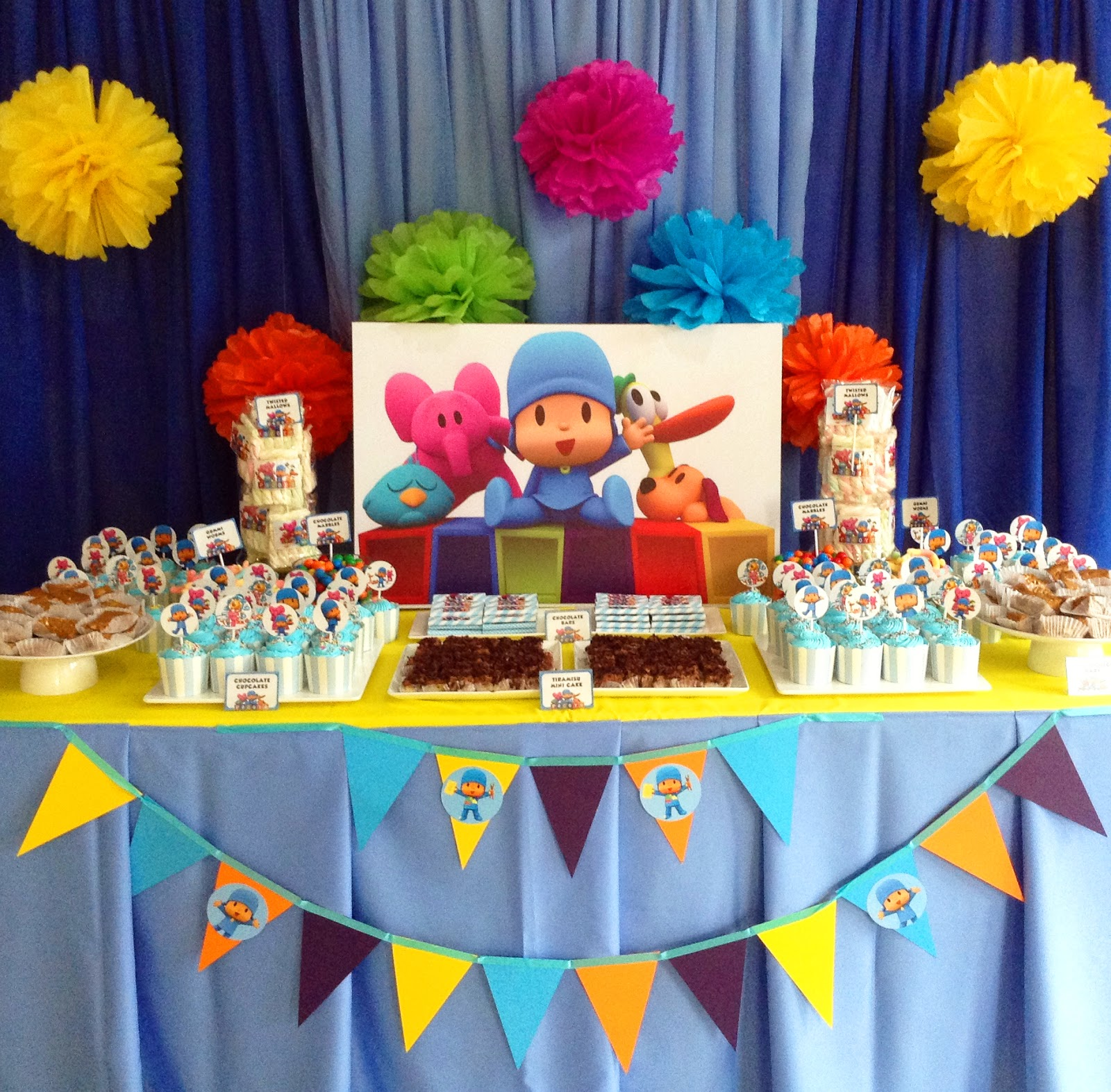 Pocoyo Themed Birthday Party