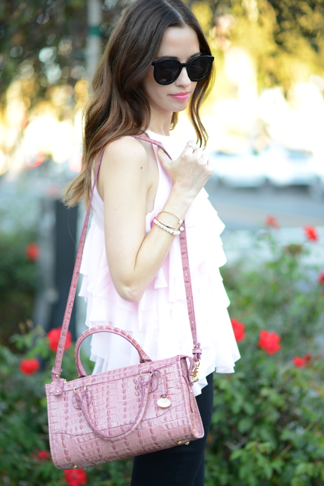 pink ruffled blouse by French Connection via M Loves M @marmar