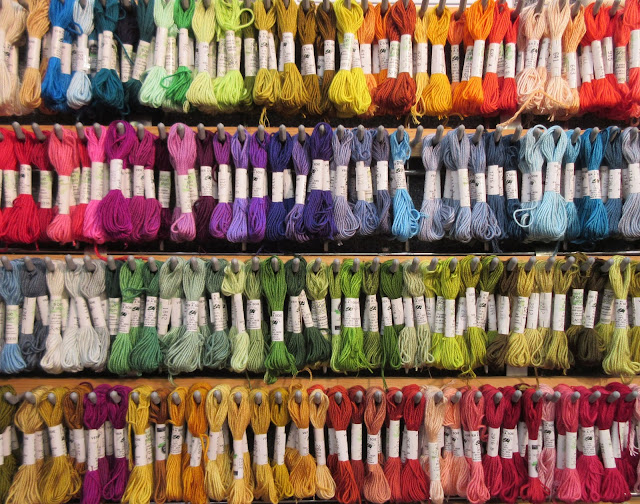 Rainbow floss - Knitting and Stitching Show