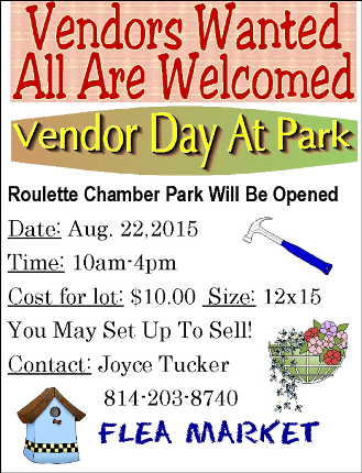 8-22 Vendor Day At Roulette
