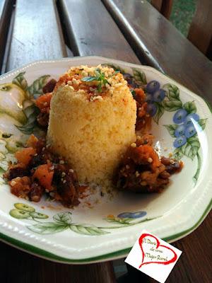 Cous cous de arroz y maíz con verdura