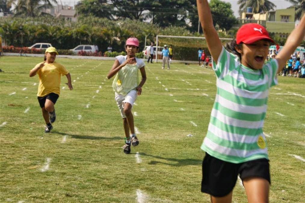 Sports day at International Trio World School, Bangalore