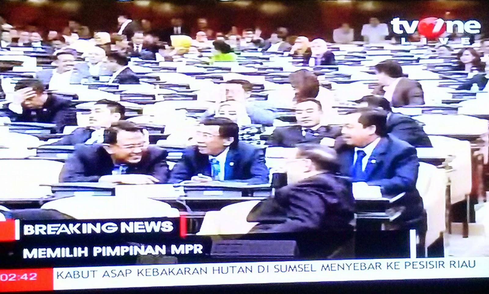 Pneghitungan suara pemilihan ketua MPR-RI