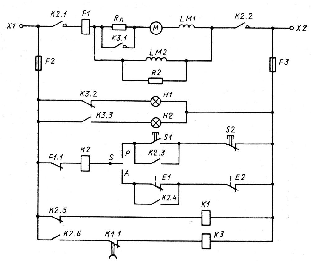 Электрическая схема пуска электродвигателя фото 35