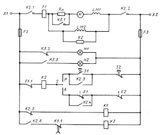 Принципиальная схема электропривода санитарно-промывочного насоса на постоянном токе