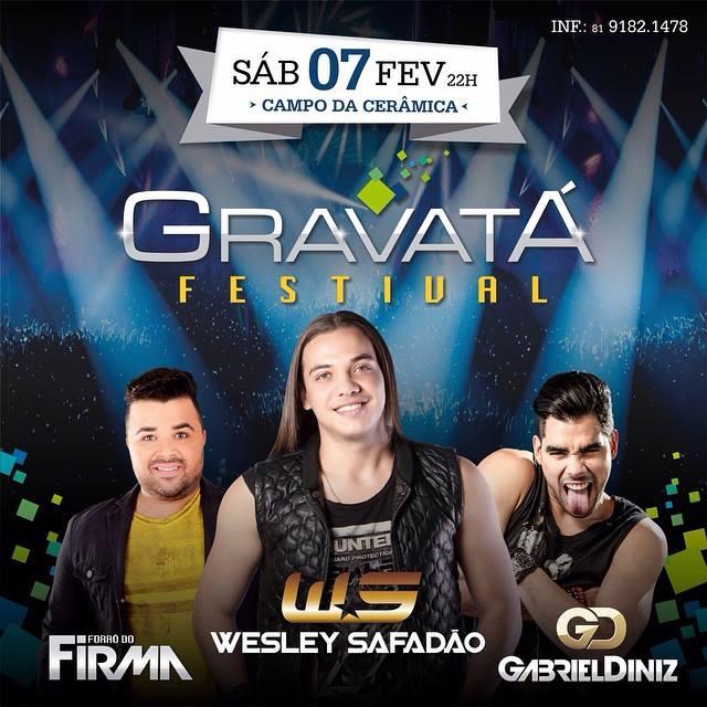 programação completa de shows festival Gravatá 2015