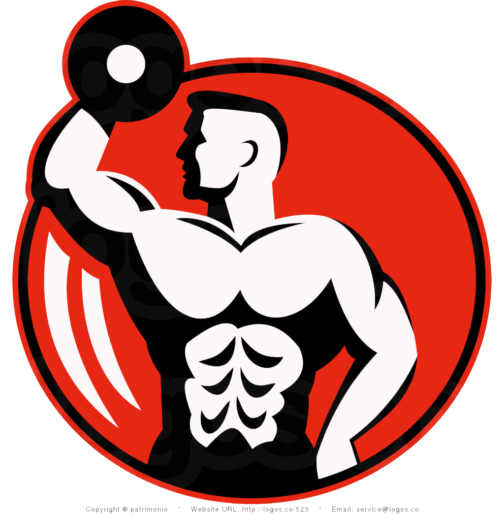 HD PNG & PSD free download: bodybuilder -free-vector-logo
