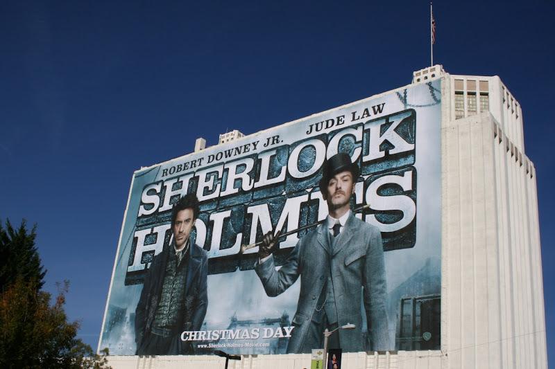 Giant Sherlock Holmes billboard