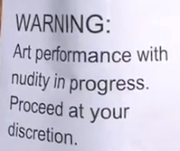 Warning for 'I'll Raise You One...' performance