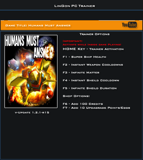 Humans Must Answer v1.2.1r15 Trainer +7 [LinGon]