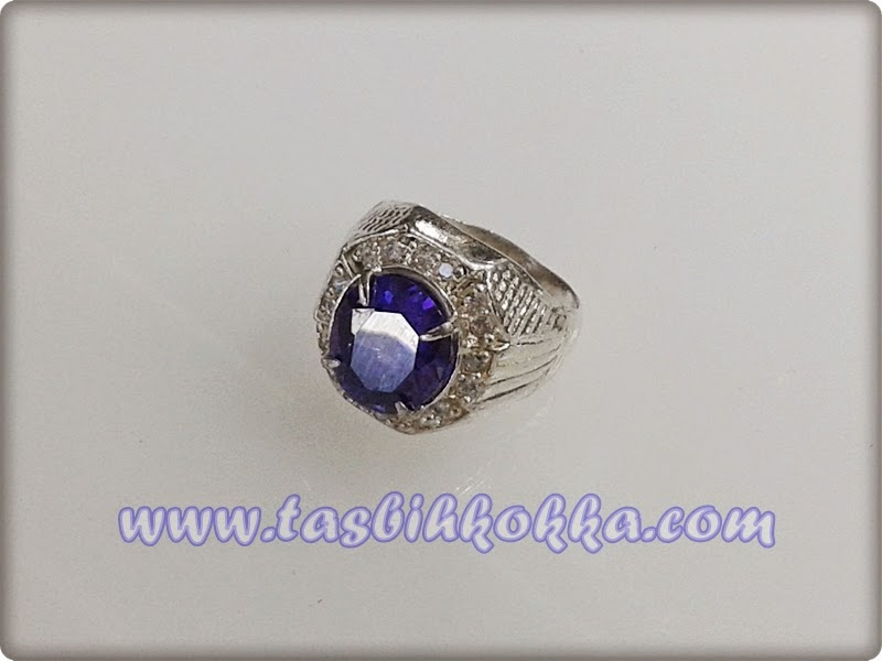 Cincin Blue Saphire Perak