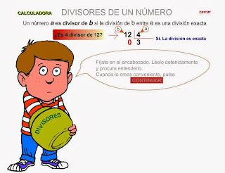 http://www.gobiernodecanarias.org/educacion/3/WebC/eltanque/todo_mate/multiplosydivisores/divisores/divisores_p.html