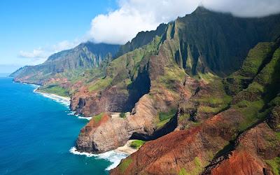 vista da Costa Na Pali - Ilha Kauai - Havaí