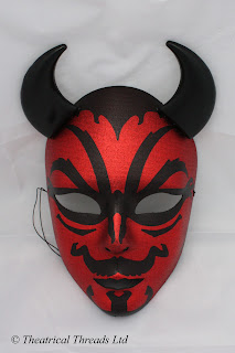 Viso Devil Italian Masquerade Ball Halloween Mask from Theatrical Threads Ltd