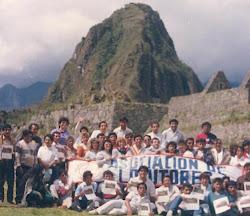 Locutores en Machu Picchu