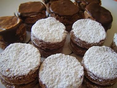 Alfajorcitos de chocolate (de Andrea Pini)