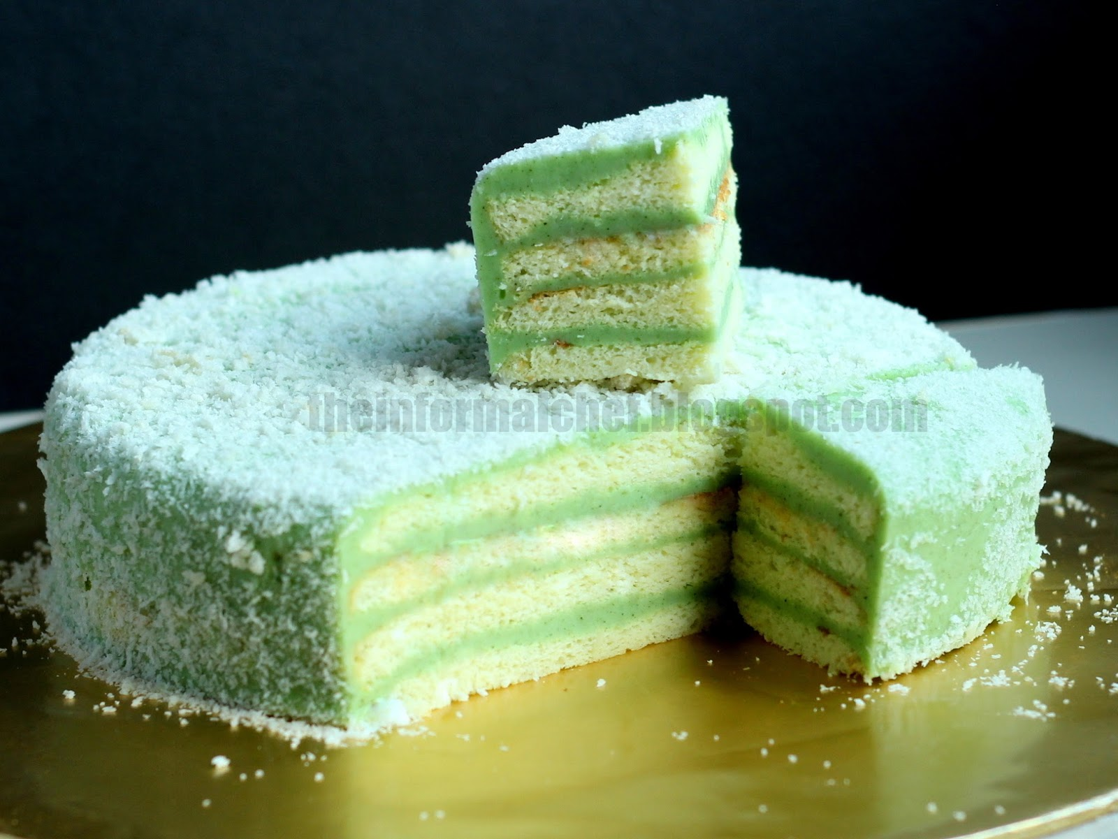The informal chef pandan layer cake for Decoration layer cake