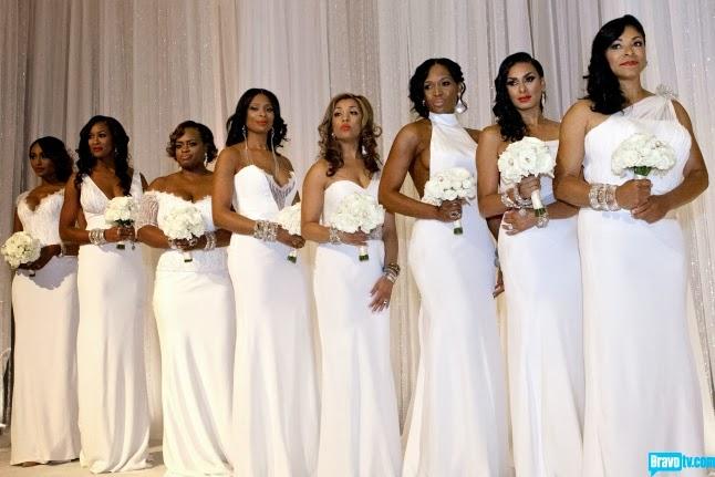 ALL WHITE BRIDESMAIDS DRESSES