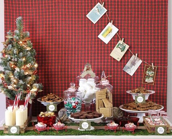 dica de como servir sobremesas do natal