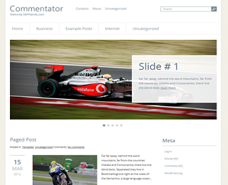 Commentator+Blogger+Template