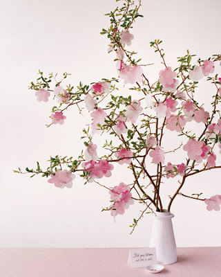 wedding flowers centerpieces cherry blossoms wedding theme