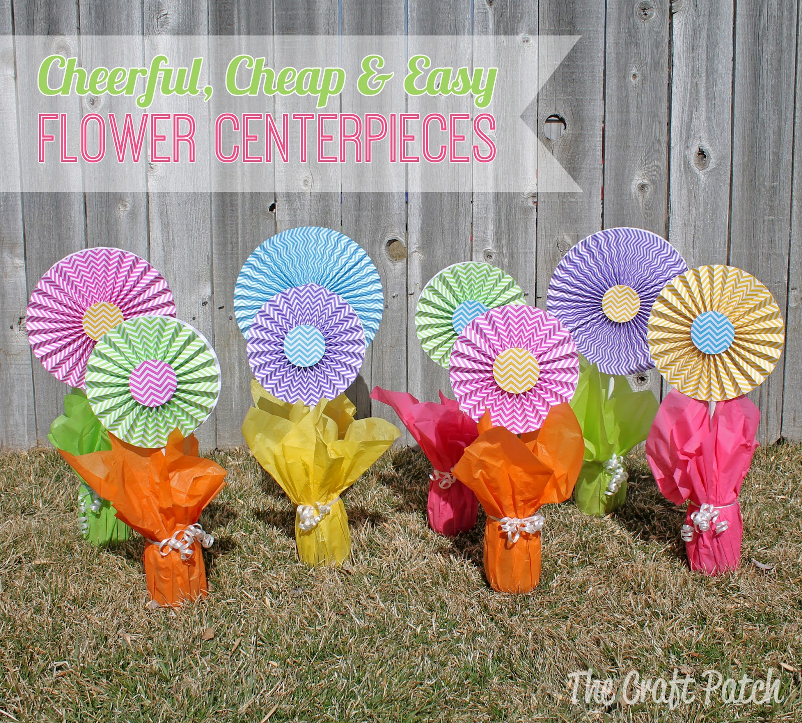 Cheerful Cheap And Easy Flower Centerpieces Thecraftpatchblog