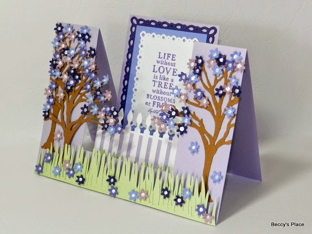 Beccys Place Tutorial Double Side Step Cards