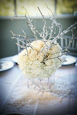 Decoraci n de bodas en invierno centros de mesa - Cristales de colores para mesas ...