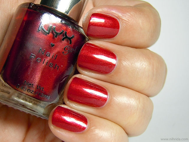 NYX Girls Nail Polish in Fire Amber