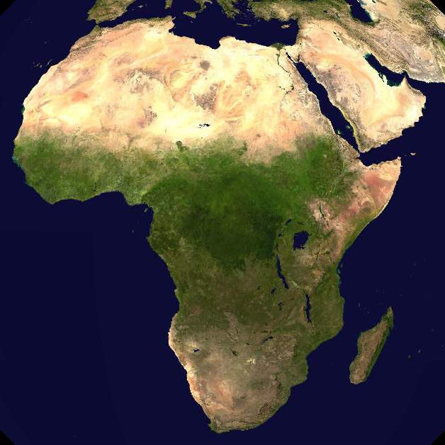 Of Africa Physical Picture - Map of africa physical