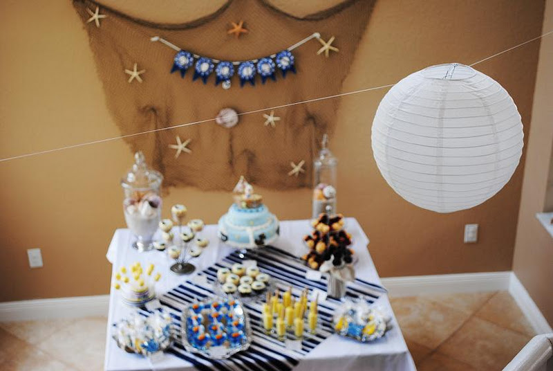 Baby shower food ideas nautical themed baby shower ideas for Baby shower nautical decoration