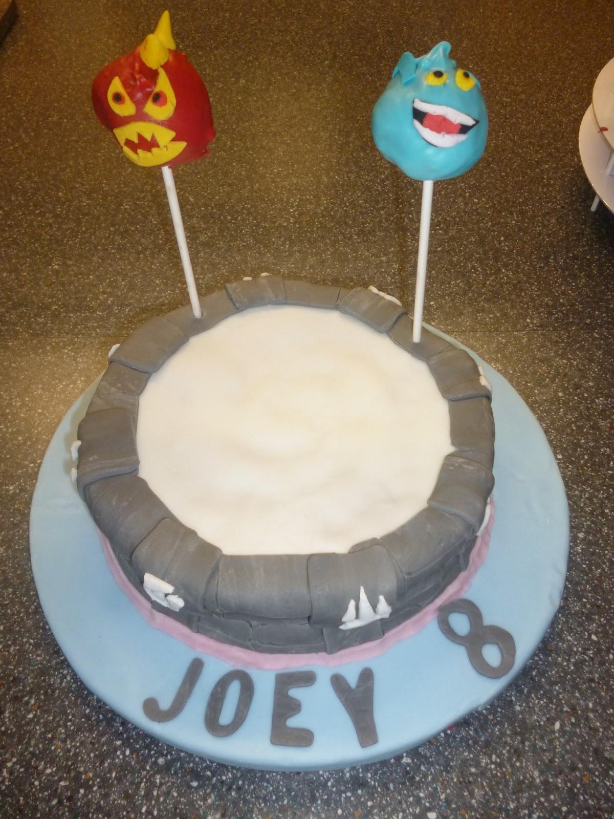 Anniething For Food Skylanders Portal Of Power Birthday Cake And