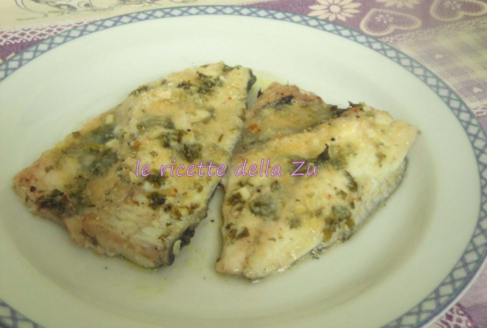 Pesce al forno con pangrattato