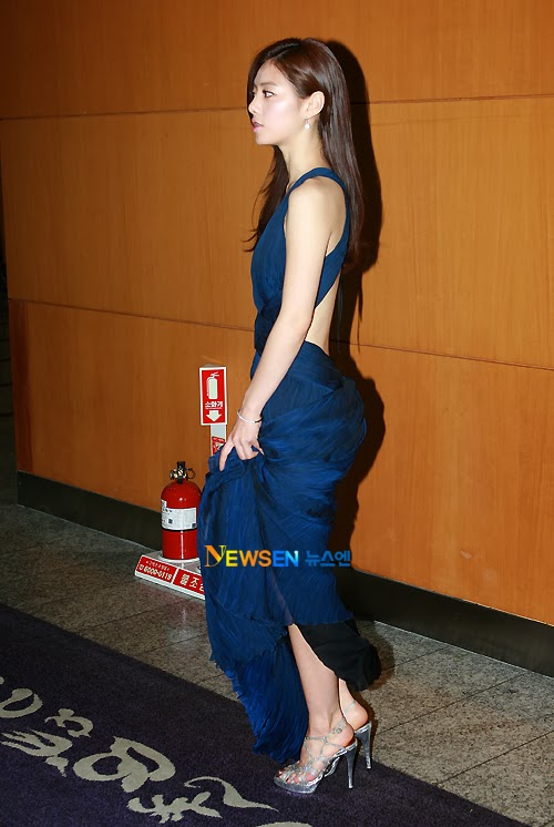 Hong Soo Ah (홍수아) at the 2010 Golden Globe Awards'