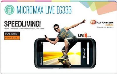 new Micromax Live TV EG333