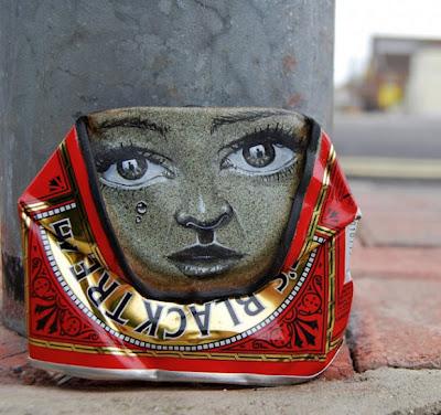 Arte reciclado en lata de alumnio