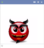 Animated devil smiley